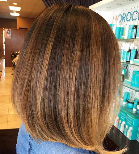 Bob Balayage Highlights Braun