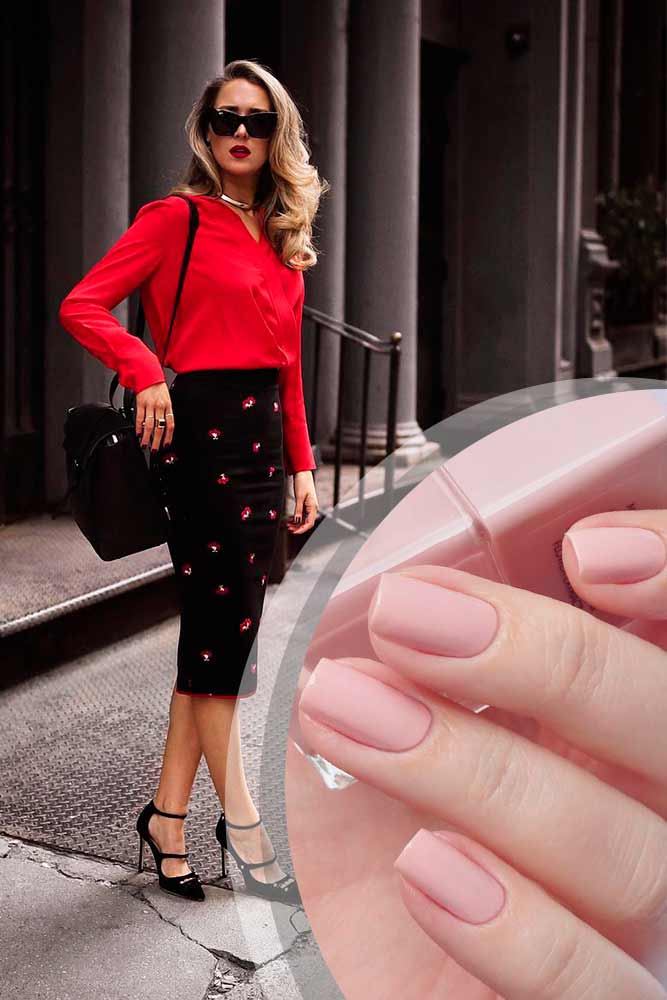 Business Casual Nails für Brave Look in Red Bild 1