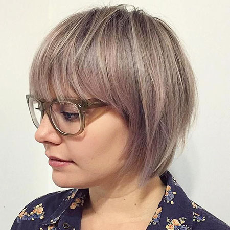 Ash Blonde Haare, Bob Bangs Layered 20