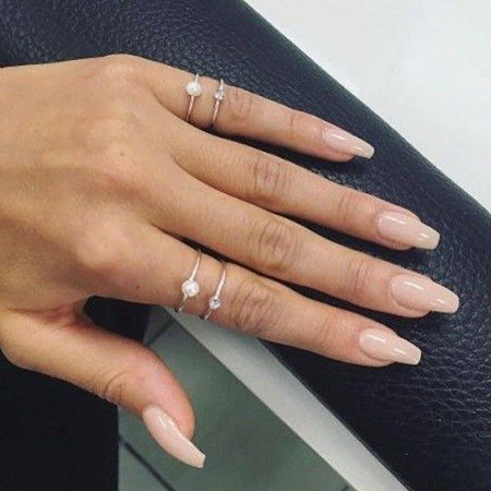 Nude Gel Ring Acryl