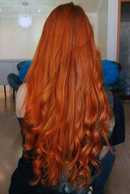 Red Curly Redheads Ombre langen Kopf Kupfer