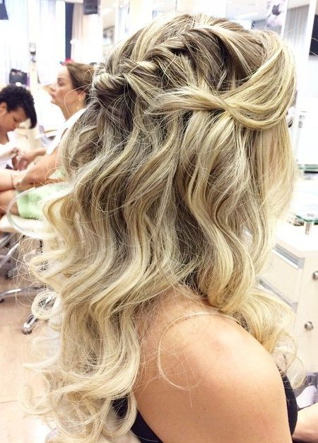 Twisted Messy Half Updo