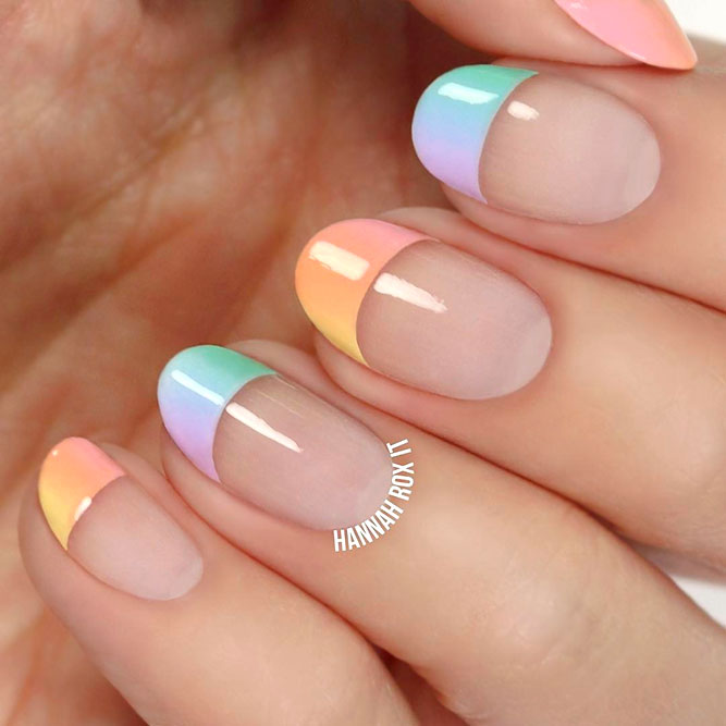 Colorful Ombre French