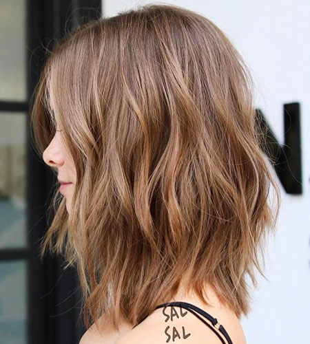 Bob Long Balayage Choppy