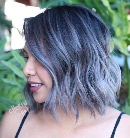 Grey Bob Haircut