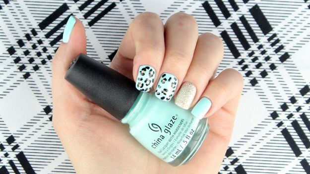 Sehen Sie sich Perfect Spring Nails an: Mint Green Leopard Design [Tutorial] bei https://naildesigns.com/leopard-nail-art-tutorial/