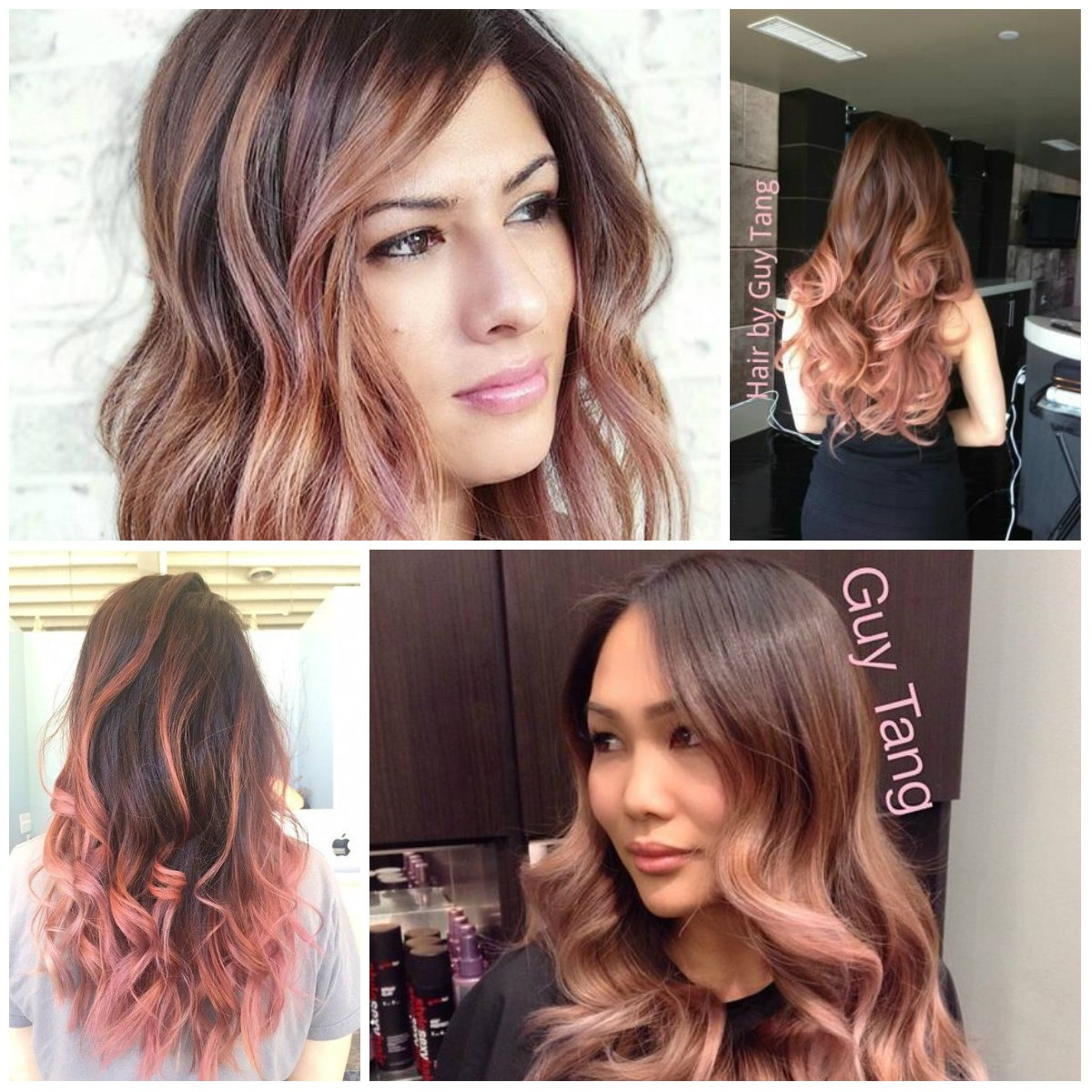 Rose Gold Ombre Hair für 2017