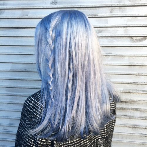beautiful silver blaue Haarfarbe