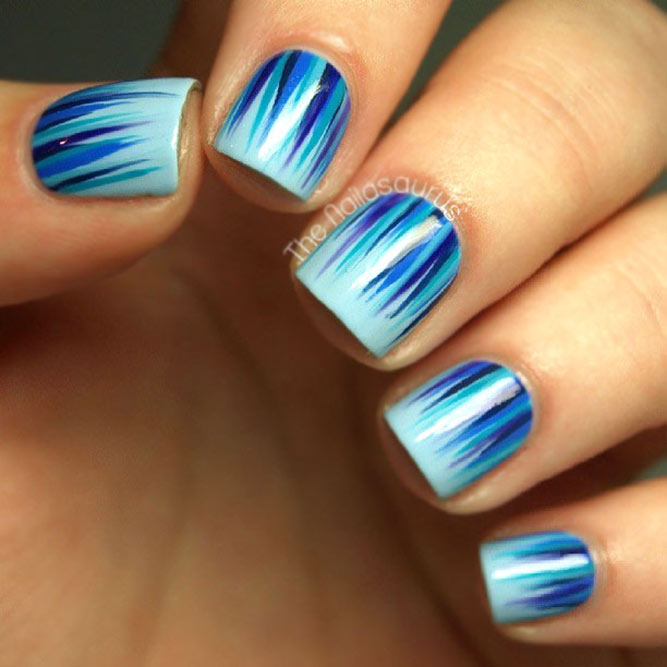 Same Color Palette Wasserfall Nail Art