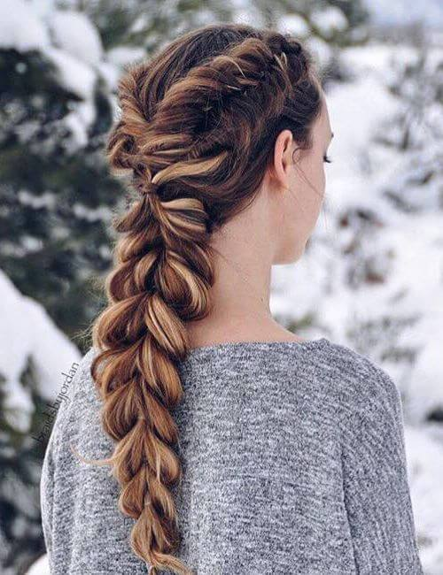 Dutch Fishtails & Pull-Through Braid Hochsteckfrisuren für lange Haare
