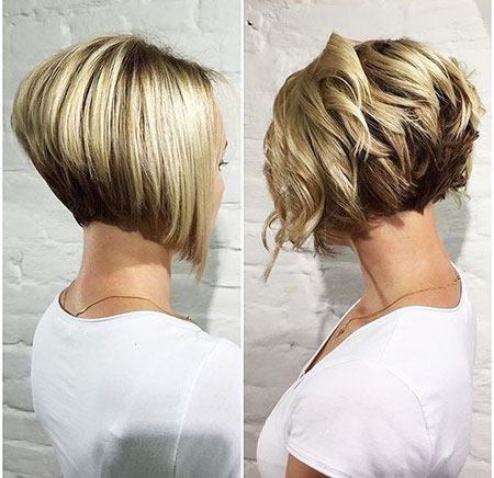 Short Bob Frauen Bobs Blond Balayage Under Trendy