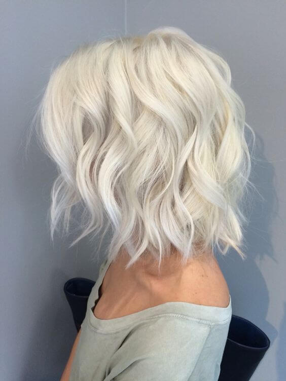 White Hot Kurze Platin Waves