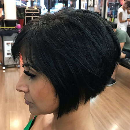 Layered Bob Hairtyles mit Fransen, Bob Short Layered Schwarz