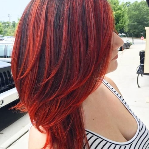 balayage rote Haare