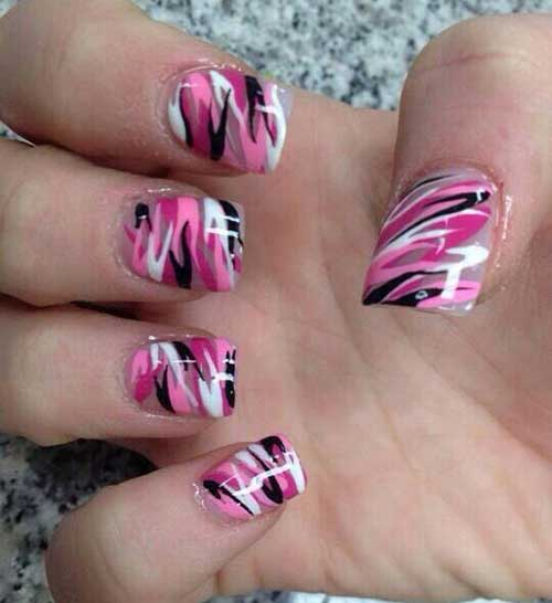 Quadratische Form Nageldesign