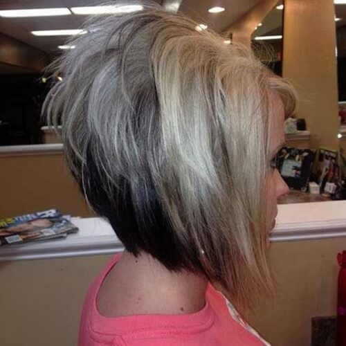 Bicolor Inverted Stacked Bob
