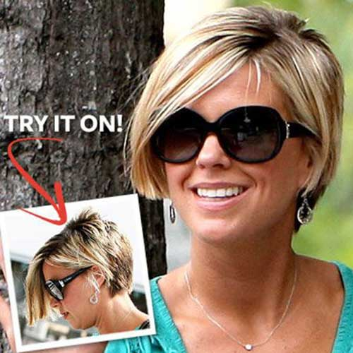 Kate Gosselin blonde Bob 2015