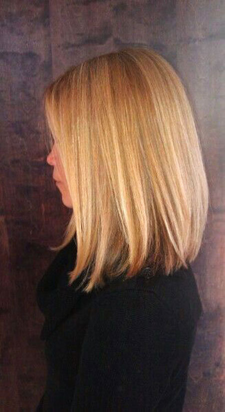 Bob Long Bobs Blonde Sommer Highlights Gesicht Extra Down