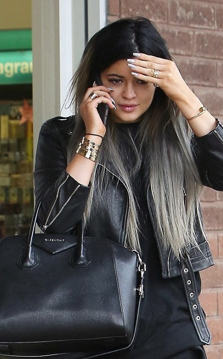 Kylie Jenner graue Ombre