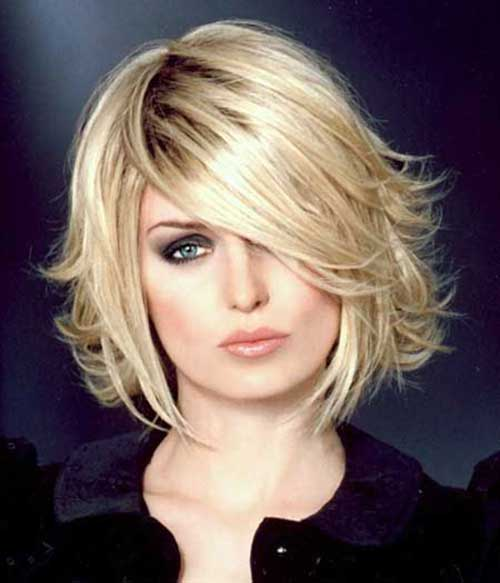 Layered Blonde Bob Haarschnitte 2015