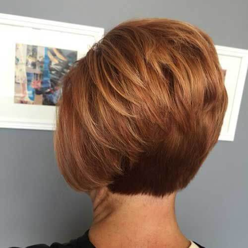 Auburn Stacked Bob Haircuts