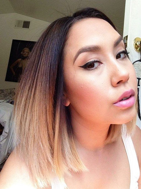 Sommer Hairtyle, Ombre gerade Farbtrends