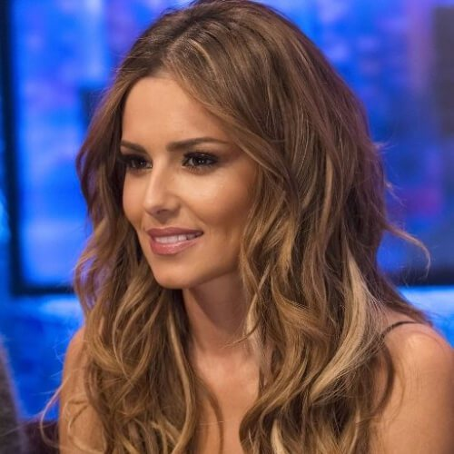 Cheryl Cole braunes Haar mit blonden Highlights