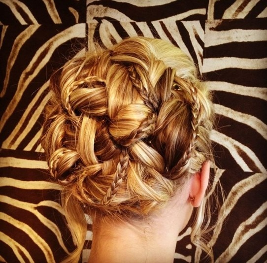 Delicate Braided Updo Hairstyle