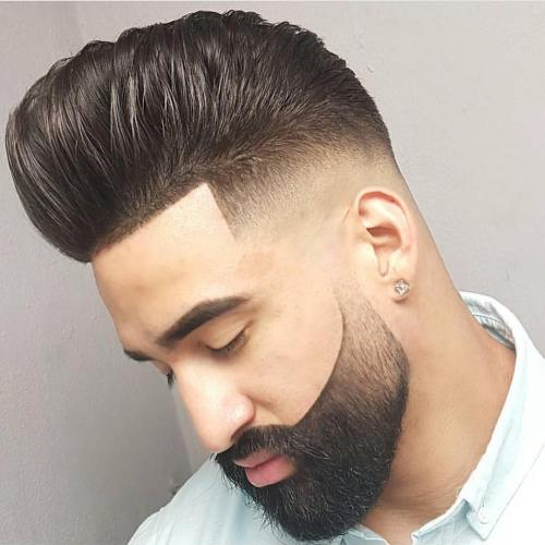 Gorgeous Pompadour with Line up