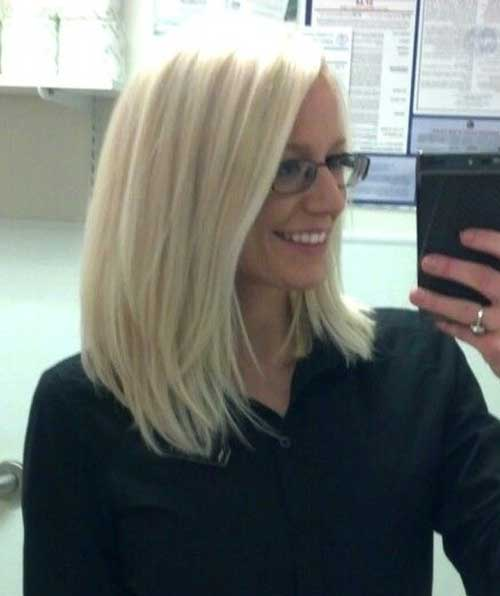 Long Layered Platinum Blonde Bob Haar