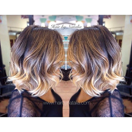 Blonde Ombre Haarfarbe, Balayage Blonde Ombre Farbe