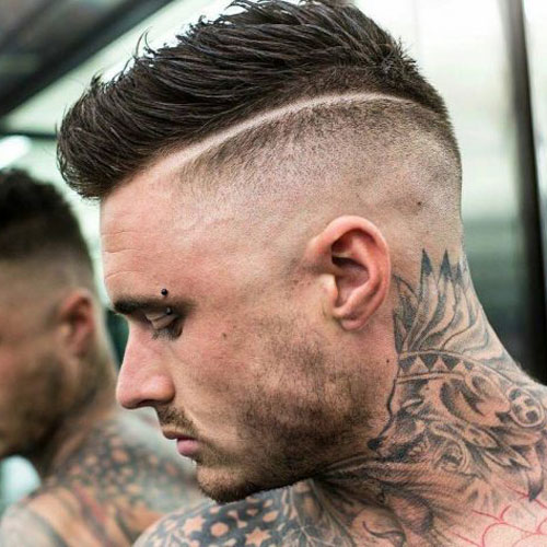 Hoher Fade Comb Over