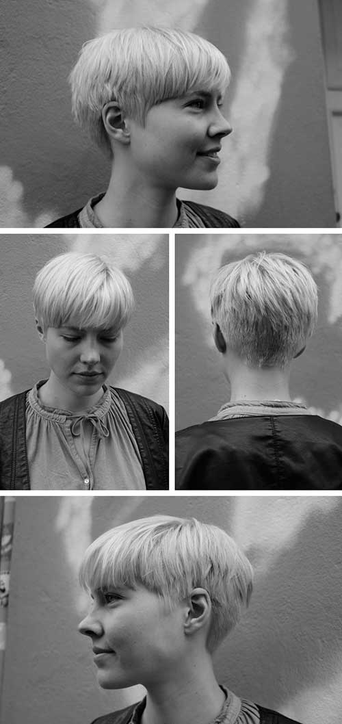 Blonde Pixie Frisuren 2015
