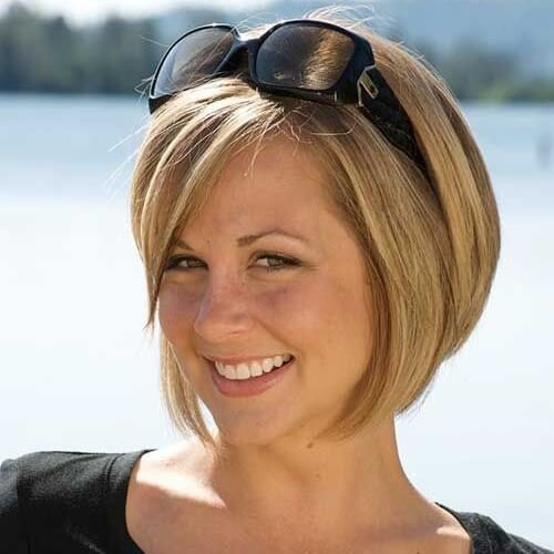 Inverted Bob Haircuts in Blonde